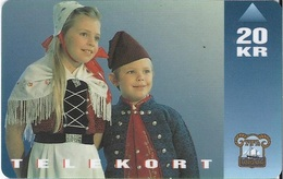 FAROE ISLANDS - National Costume (children) - 15.000EX - Faroe Islands