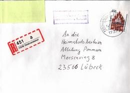 ! 1 Einschreiben , 1994, Selbstklebender  R-Zettel  Aus Ferdinandshof, 17379 - BRD