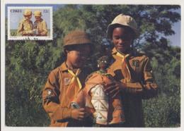 AK31 Ciskei Maximum Card - Girl Guides, 1985 - Scouting