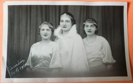 CARTE REINES DU CARNAVAL 1935 - CHAUSSIN ? OU DOLE ? - 39 - PHOTO GIRARDIN - HORIZONTALE -  SCAN RECTO/VERSO -9 - Autres Communes