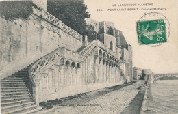 CPA - France - (30) Gard - Pont-Saint-Esprit - Escalier St-Pierre - Pont-Saint-Esprit
