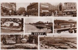 AP54 Derby Multiview - 1940's RPPC - Derbyshire