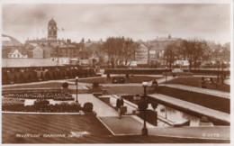 AP54 Riverside Gardens, Derby - 1940's RPPC - Derbyshire
