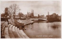 AP54 Exeter Bridge, Derby - 1940's RPPC - Derbyshire