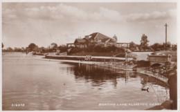 AP54 Boating Lake, Alvaston, Derby - 1940's RPPC, Slogan Postmark - Derbyshire