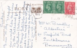 AP54 Derby Cathedral, Derby - 1940's RPPC, Slogan Postmark - Derbyshire