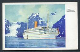 "C1934 KENNETH SHOESMITH -- RMSP ""ATLANTIS"" AT SPITZBERGEN - Steamers"