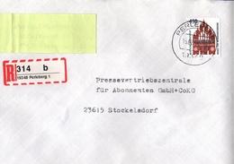 ! 1 Einschreiben 1994, Selbstklebender  R-Zettel  Aus Perleberg, 19348 - BRD