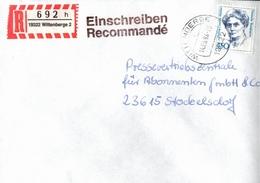 ! 1 Einschreiben 1994,  R-Zettel  Aus Wittenberge, 19322 - BRD