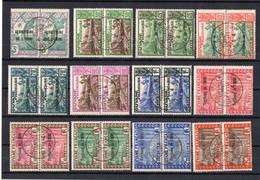 !!! PRIX FIXE : ININI, SERIE N°36/47 EN PAIRES OBLITEREES ST ELIE FRANCE LIBRE - Inini (1932-1947)