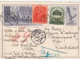 Hongrie Entier Postal Illustré Pour L'Allemagne 1938 - Postal Stationery