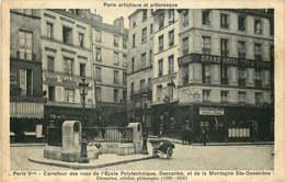 PARIS  5eme Arrondissement   Carrefour Des Rues De L'Ecole Polytechnique Descartes Et De La Montagne Ste Genevieve - Distretto: 05