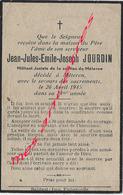En 1945- Méteren(59) Jean JOURDIN Militant Jaciste - Décès