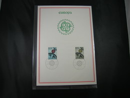 "BELG.1967 1415 & 1416  FDC Filatelia Card : "" EUROPA 1967 "" - 1961-70"