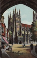 AR37 Cathedral In Canterbury, England - American Postcard - Canterbury