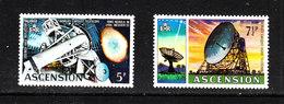 Ascension - 1972. Telescopi Palomar E Jodrell Bank.  Telescopes. MNH - Astronomia