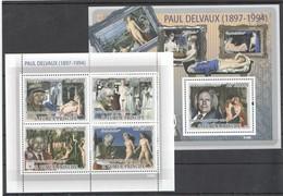 W018 2009 S.TOME E PRINCIPE ART PAUL DELVAUX 1KB+1BL MNH - Arte
