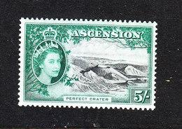 Ascension - 1956. Cratere Vulcanico. Volcanic Crater. High Values. MNH, RARE - Vulcani