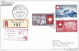 """97 - 49 - Carte Recommandée Avec Oblit Spéciale """"1ère Expo Philatélique Montreux 1939"""" - Marcophilie"""