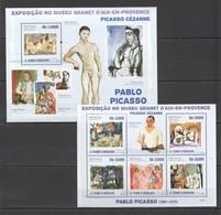 W023 2009 S.TOME & PRINCIPE ART PICASSO PABLO BL+KB MNH - Picasso