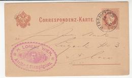 Austria Postal Stationery Postcard Travelled 188? H. Lorenz Wien B190710 - Interi Postali