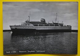 Cartolina Isola D'Elba Motonave Traghetto Athelia 1957 - Cartoline
