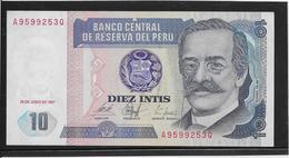 Pérou - 10 Intis - Pick N°129 - NEUF - Peru