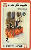Kuwait Prepaid, Stamp On Phone Card, Majlis (Heritage) - Kuwait