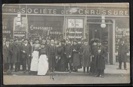 CARTE PHOTO - Devanture Du Magasin Des Chaussures Fayard - Negozi