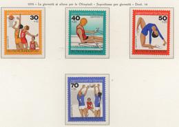 PIA - GERMANIA - 1976 : Sovrattassa Per La Gioventù - La Gioventù Si Allena Per Le Olimpiadi   -  (Yv 731-34) - Estate 1976: Montreal