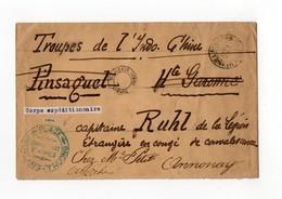 !!! PRIX FIXE : CORPS EXPEDITIONNAIRE DU TONKIN, LETTRE DE 1904 CACHET PLAGE - PHU - LANG - THUONG - Covers & Documents