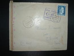 LETTRE Censurée ALLEMAGNE FRANCE TP 25 OBL.11.3. 44 BIEDERITZ - Poststempel (Briefe)