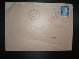 LETTRE Censurée ALLEMAGNE FRANCE TP 25 OBL.7.6. 44 BIEDERITZ - Poststempel (Briefe)