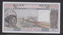 Côte D'Ivoire - 5000 Francs - 1978 -  Pick N°108Ab - Neuf - Elfenbeinküste (Côte D'Ivoire)