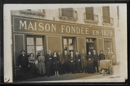 CARTE PHOTO 71 - Châlon-sur-Saône, Devanture De La Maison Debray Fondée En 1879 - Chalon Sur Saone