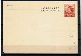 FAL14 - LIECHTENSTEIN CARTE POSTALE MICHEL N°P22 - Stamped Stationery