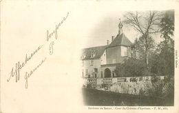 21 EPOISSES. La Cour Du Château 1903. Etat Impeccable - France
