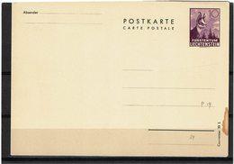 FAL14 - LIECHTENSTEIN CARTE POSTALE MICHEL N°P19 - Stamped Stationery
