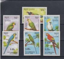 Kamputschea Michel Cat.No. Mnh/** 1016/1022 Birds - Kampuchea