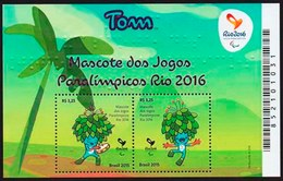 "BRAZIL 2015  - Rio 2016 - Paralympic Games  Mascot   ""TOM""  -  2v MNH - Unused Stamps"