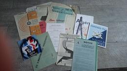 Lot Brochures Notice  Feuilles Armée Française Service Du Matériel Algérie Militaire - Livres, Revues & Catalogues
