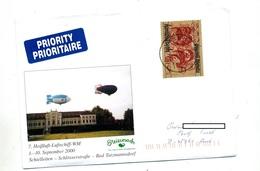 Lettre Cachet Wien Sur Journee Du Timbre Illustré Zeppelin - Marcofilie - EMA (Print Machine)