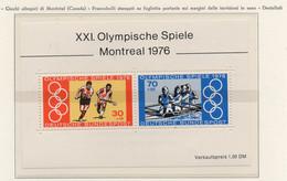 PIA - GERMANIA - 1976 : XXI° Giochi Olimpici Di Montreal  - (Yv  Bf 11) - Estate 1976: Montreal