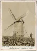 Moulin à Vent à Lanchères (Somme). Molen . Rare . Citrate 1899 . - Photos