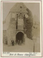 Saint-Valéry-sur-Somme . Porte De Nevers . Citrate 1899 . Famille En Forêt D'Eu Au Verso. - Photos
