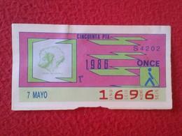 CUPÓN DE ONCE SPANISH LOTTERY LOTERIE SPAIN CIEGOS BLIND LOTERÍA ESPAÑA 1986 PERRO DOG CHIEN DEL PIRINEO Great Pyrenees - Billetes De Lotería
