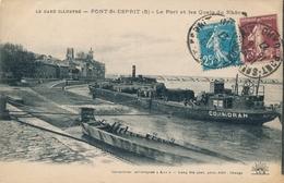 CPA - France - (30) Gard - Pont-Saint-Esprit - Le Port Et Les Quais Du Rhône - Pont-Saint-Esprit