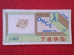 CUPÓN DE ONCE SPANISH LOTTERY LOTERIE SPAIN CIEGOS BLIND LOTERÍA ESPAÑA 1986 FAUNA FAUNE TEJÓN BADGER RATEL DACHS VER FO - Billetes De Lotería