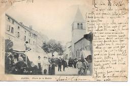 69 - COURS - Place De La Mairie (Très Animée, Précurseur 1901) - Cours-la-Ville