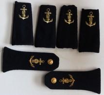 Ensemble De 6 Fourreau D'épaule Militaire Gendarmerie Maritime Ancre Marine Grenade - Equipement